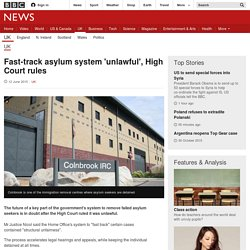 Fast-track asylum system 'unlawful', High Court rules - BBC News