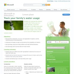 Track your family's water usage