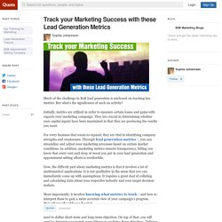 Track your Marketing Success with these Lead Ge... - B2B Marketing Blogs - Quora