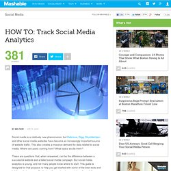 HOW TO: Track Social Media Analytics