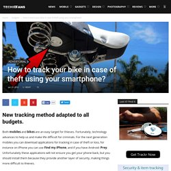 How to track your bike in case of theft using your smartphone?