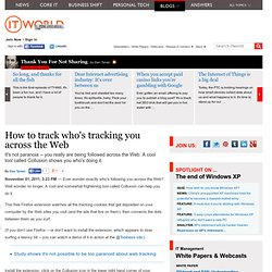 How to track who's tracking you across the Web