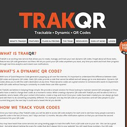Trackable Dynamic QR Codes - TrakQR