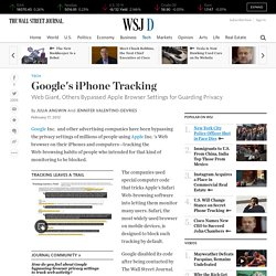 Google Tracked iPhones, Bypassing Apple Browser Privacy Settings