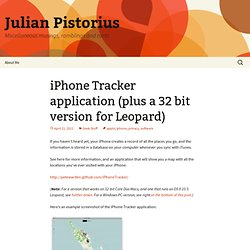 iPhone Tracker application (plus a 32 bit version)