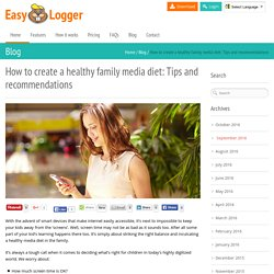 Phone tracker app to create a healthy family media diet