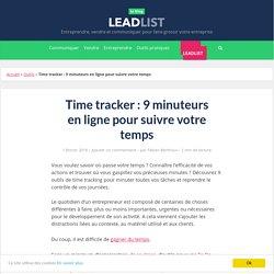 Time tracker : 9 minuteurs en ligne pour suivre votre temps - Leadlist.fr
