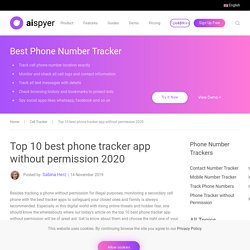 Top 10 best phone tracker app without permission 2020Cell Tracker - Aispyer