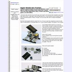 Super Simple Sun Tracker. - Jose Pino's Projects and Tidbits.