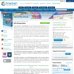 Tracker Software Products
