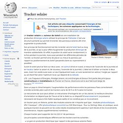 Tracker solaire