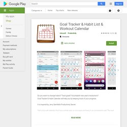 Goal Tracker & Habit List & Workout Calendar - Apps on Google Play