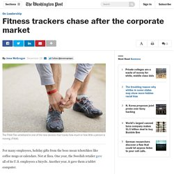 Fitness trackers chase after the corporate market