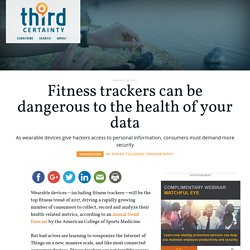 Fitness trackers can be dangerous to the health of your data - Third Certainty