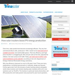 How solar trackers boost PV energy production