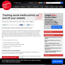 Tracking social media activity on and off your website | Web 2.0 technology | Scoop.it