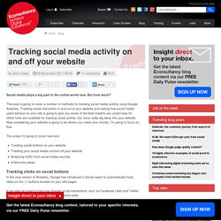Tracking social media activity on and off your website
