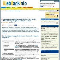 Tracking Google Analytics des boutons de partage de réseaux sociaux
