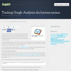 Tracking Google Analytics des boutons sociaux - Snipeo
