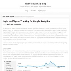 Login and Signup Tracking for Google Analytics - Charles Farina's Blog