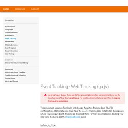 Event Tracking - Web Tracking (ga.js)