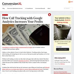 How Call Tracking + Google Analytics Will Improve Your Profits