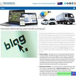 How does a fleet tracking system benefit a company?