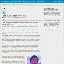 Tracking a Bitcoin Thief pt. I: