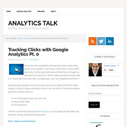 Tracking Clicks with Google Analytics Pt. 0