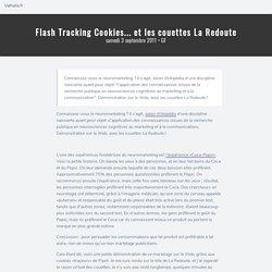 Flash Tracking Cookies... et les couettes La Redoute