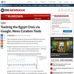 Tracking the Egypt Crisis via Google, News Curation Tools | The Rundown News Blog | PBS NewsHour