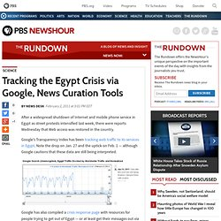 Tracking the Egypt Crisis via Google, News Curation Tools