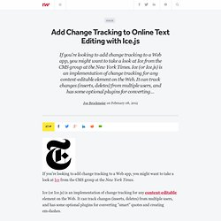 Add Change Tracking to Online Text Editing with Ice.js