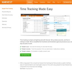 Time tracking and invoicing features for small businesses and fr