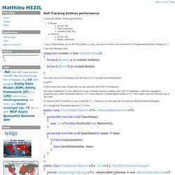 Self Tracking Entities performance - Matthieu MEZIL