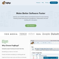 FogBugz - Effortless Bug Tracking and Project Management | FogBugz from Fog Creek Software