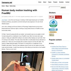 Human body motion tracking with FreeIMU