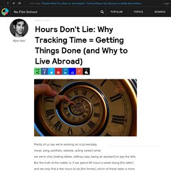 Hours Don't Lie: Why Tracking Time = Getting Things Done (and Why to Live Abroad)