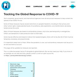 Tracking the Global Response to COVID-19