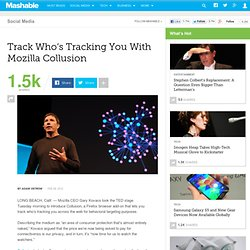 Track Who's Tracking You With Mozilla Collusion