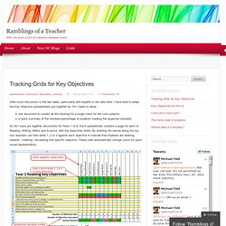Tracking Grids for Key Objectives