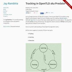 Tracking in OpenTLD aka Predator — Jay Rambhia