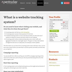 What is a website tracking system?