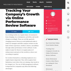 Tracking Your Company's Growth via Online Performance Review Software