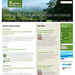 FERN | tracking EU policies, focusing on forests