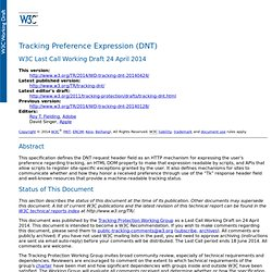 Tracking Preference Expression (DNT)