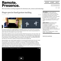 Finger-precise hand gesture tracking