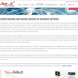Cargo Tracking and Tracing Service - InfoxUSA