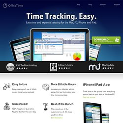 Time Tracking Software for Mac, Windows, iPhone, iPad & iPod Touch