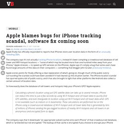 Apple blames bugs for iPhone tracking scandal, software fix coming soon